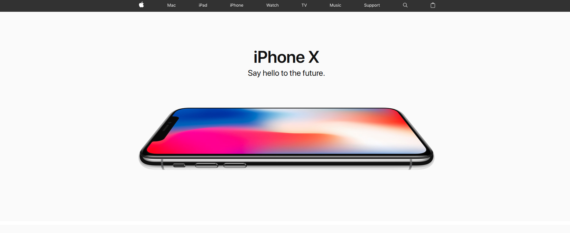 Iphone - puste przestrzenie, trendy w UX design