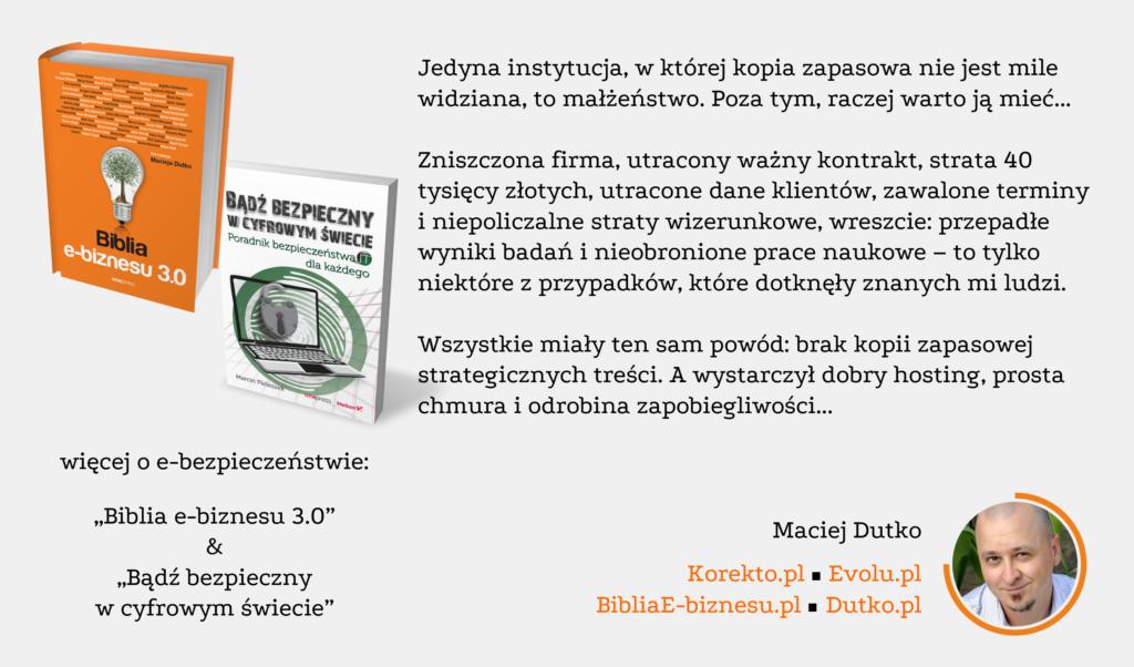 Opinia eksperta e-biznesu Macieja Dutko