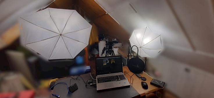 Oświetlenie przy użyciu dyfuzyjnych parasolek